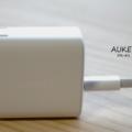【AUKEY PA-F1 レビュー】1,000円台で買える!PD対応の急速充電アダプタ